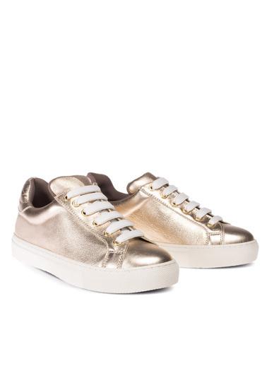 Deery Hakiki Deri Sneakers Altın